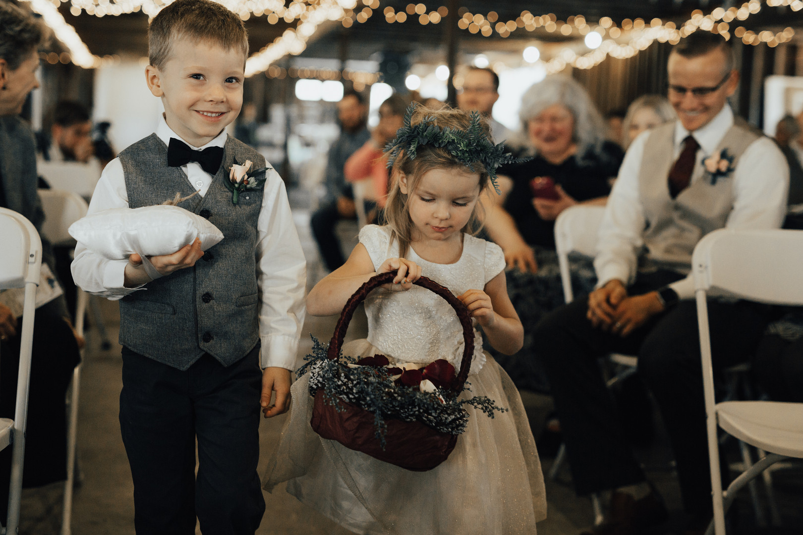 Flower Girl Crown and RIng Bearer Flower