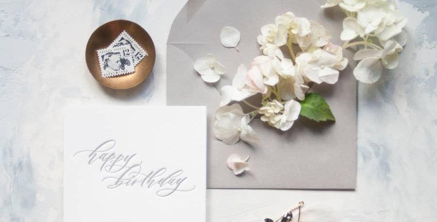 Happy Birthday Letterpress Greeting Card - Seniman Calligraphy