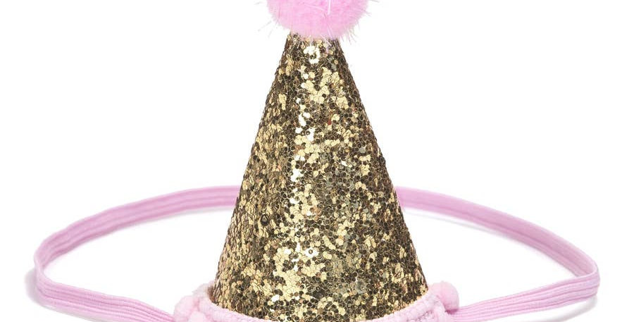 Gold Party Hat - Sweet Wink