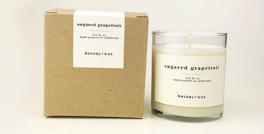 Sugared Grapefruit 8oz. Tumbler Soy Candle - botany+wax