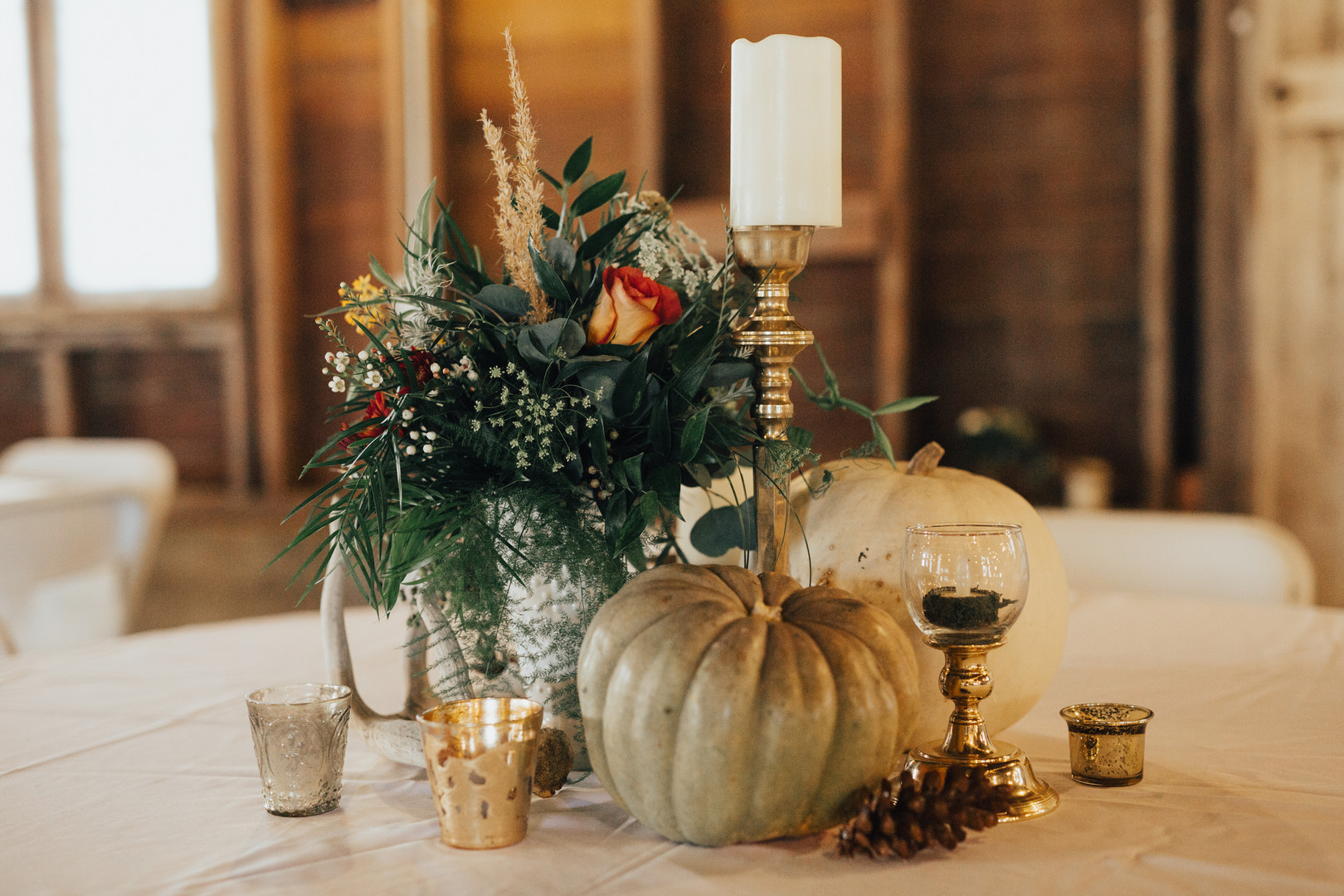 Fall Pumpkin and Antler Wedding