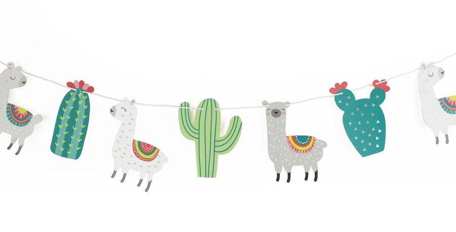 Llama and Cactus - Garland - Merrilulu