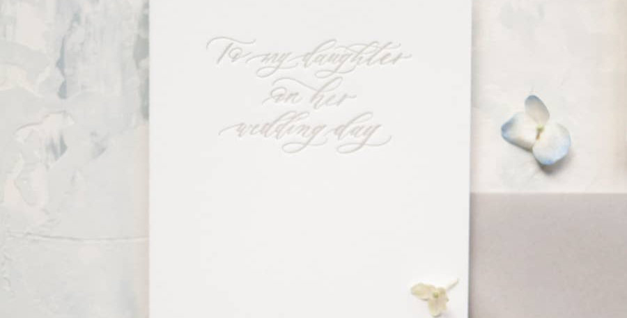 To My Daughter/Son on Her/His Wedding Day - Seniman Calligraphy
