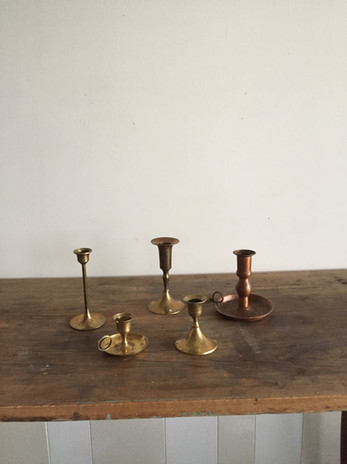 Small brass candle holders
