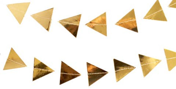 Gold Triangles Paper Garland - Harlow & Grey