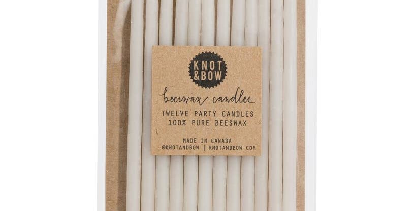 Tall Beeswax Party Candles - Knot & Bow