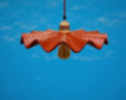 Ceiling Lamp_Clay_Mexican Pottery_Serpientes