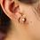 Thumbnail: Earrings Gold Opal