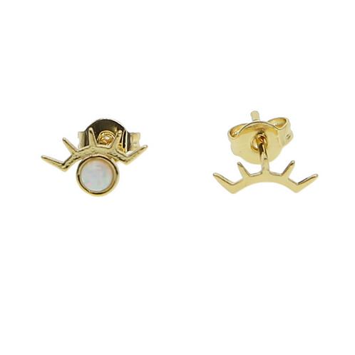 Earrings Gold Opal