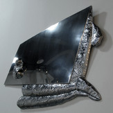 世の中から出るCome Out from the world  2008  stainless steel   100 × 92 cm.jpg