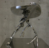 大地の気運  Tendency of earth 2005  stainless steel  h 38×35×30cm.JPG