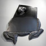 世の中から出ようLet's go Out (from the world)2008   stainless steel   91 × 89 cm.jpg