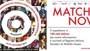 #MatchItNow: 7 giorni per sensibilizzare alla donazione del midollo osseo