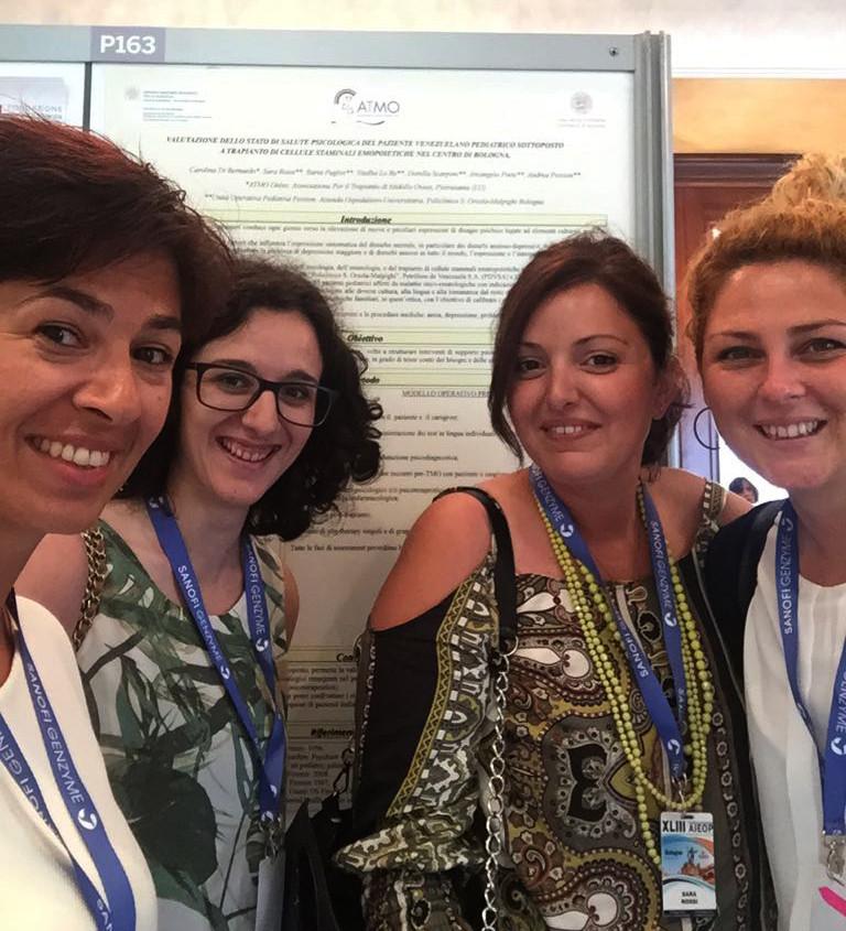 Il team di ricerca di ATMO Onlus e dell'ambulatorio di Psicologia del Sant'Orsola
