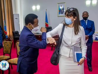 A.N   : Christophe Mboso et Lisa J. Peterson ont échangé sur les questions des droits humains en RDC