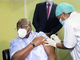 RDC : Le Couple Présidentiel a  reçu  son  vaccin contre la Covid19