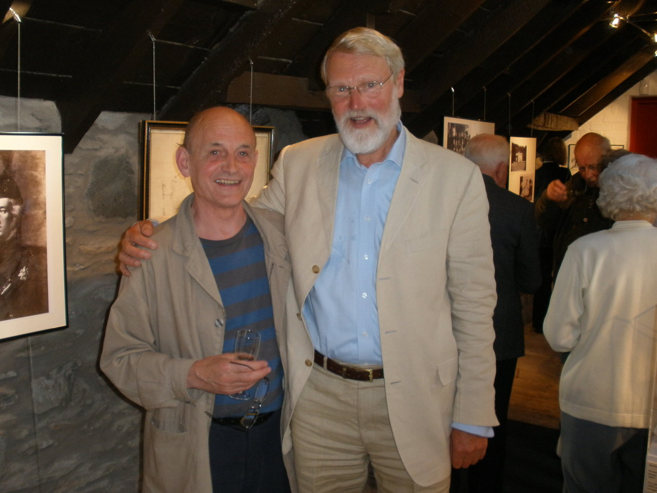 Ruary with fellow-writer Frank