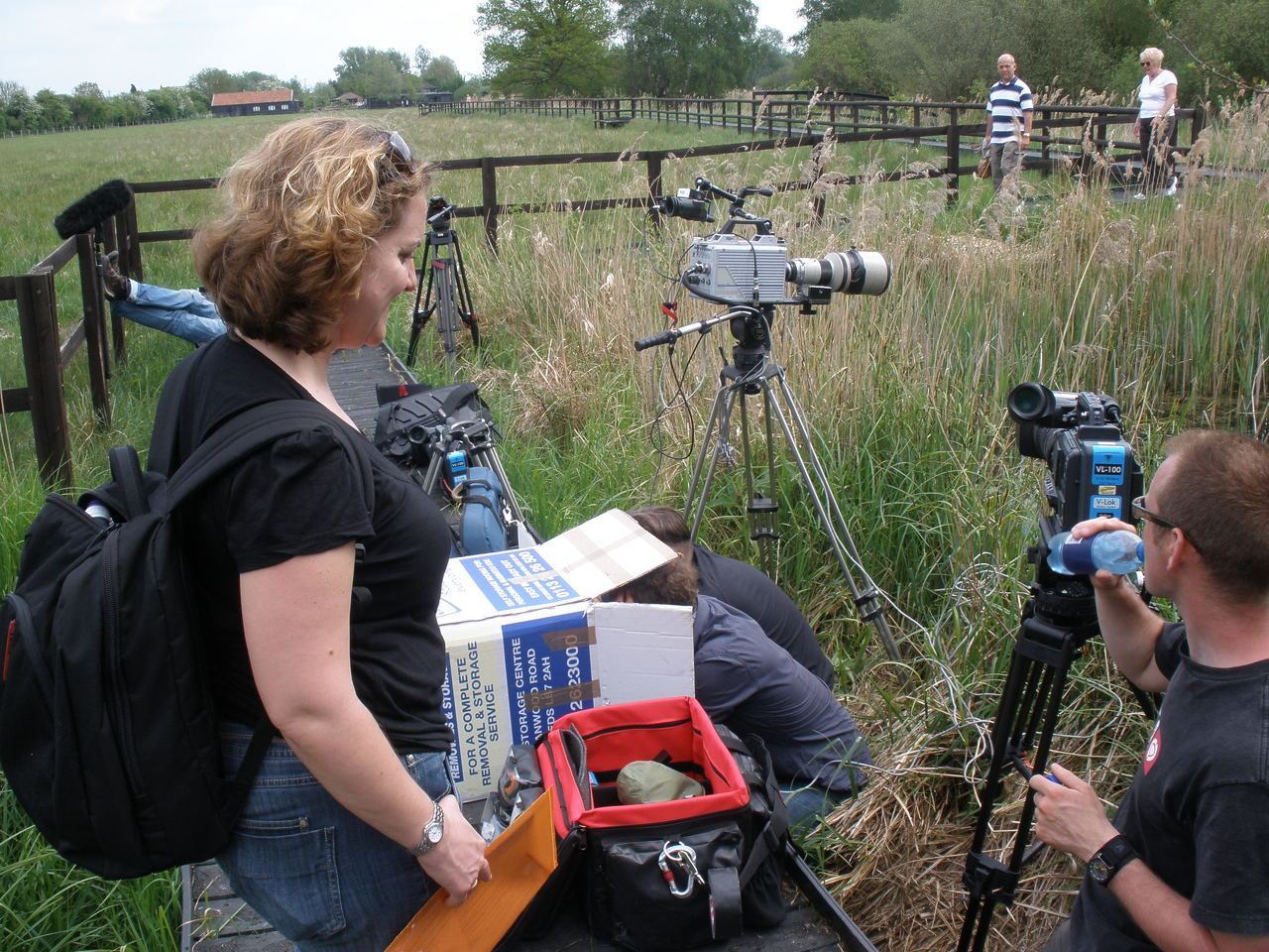 BBC FILMING AT WICKEN 2010