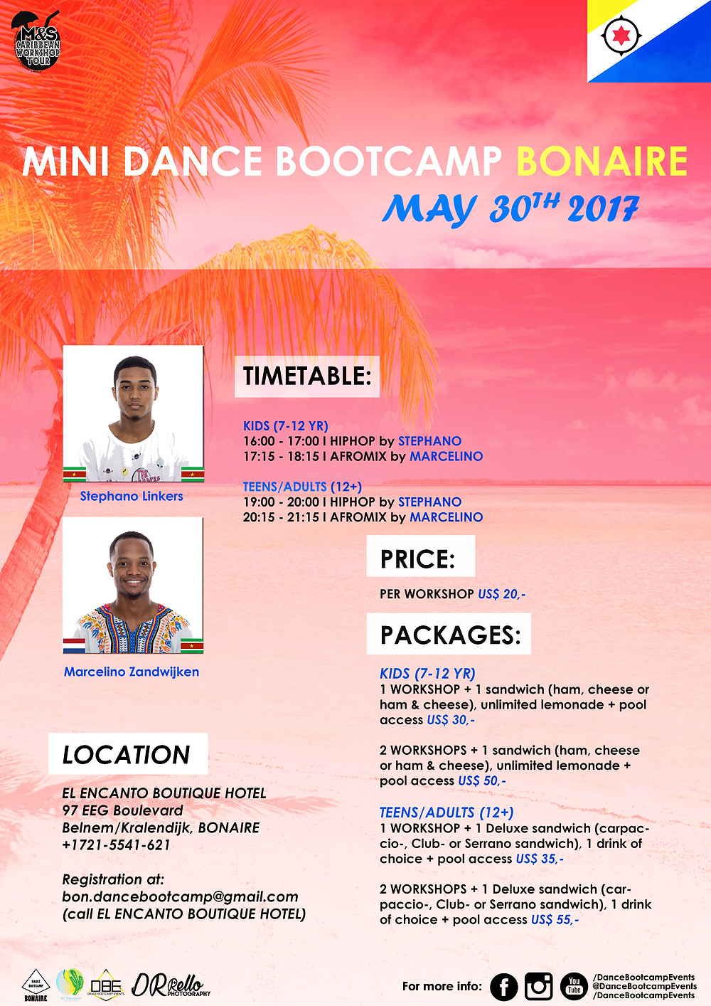 XpBonaire, IslandLife, Bonaire, Information, Events, Entertainment , Dance Bootcamp Events, El Encanto Boutique Hotel Bonaire
