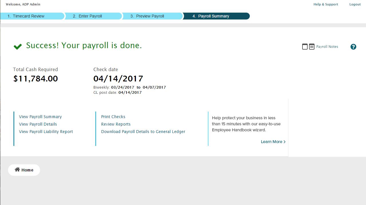 Payroll Summary - 4