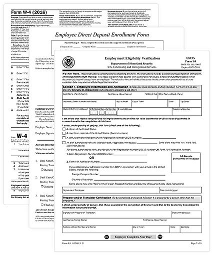 Employee Set Up Forms
