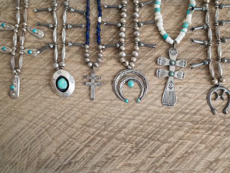 Navajo Naja Squash Blossom Necklaces-印第安Navajo月牙與石榴花項鍊