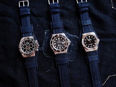 Watch Strap - Vintage Indigo Bund Strap Premium