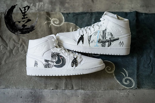 Nike Air Jordan 1 Mid – Ukiyo-E Inku 墨   Simple Union