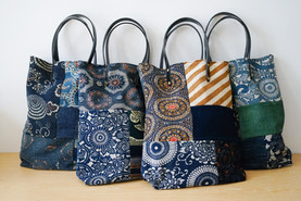 Patchwork Tote Bag | Indigo |Simple Union