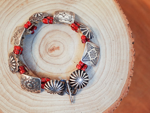 Vintage Navajo Concho Bangle