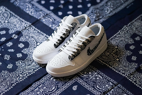 Air Jordan 1 Low - VTG Bandana Set With Swoosh and Lacecover