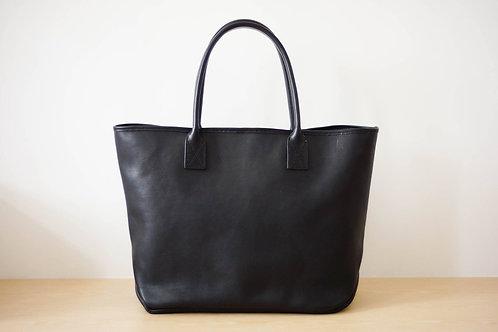 Homer Tote Bag Leather L - BLK