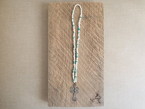 Vintage Santo Turquoise With Naja Necklace