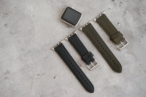 Apple Watch Strap - Italian Leather Premium Olive | Simple Union