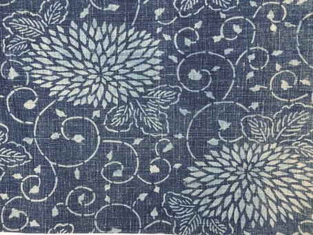 Japanese Traditional Indigo Fabric    日本藍染古布