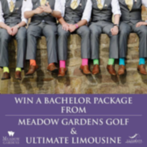 Win a bachelor package from Meadow Gardens Golf and Ultimate Limousine