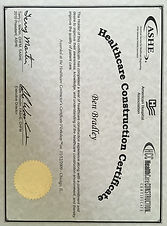 Bent Construction Commercial General Contractor in Jacksonville ASHE Healthcare Construction Certification