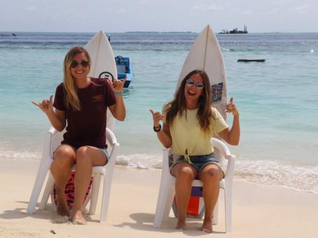 Kelly says surf aux Maldives