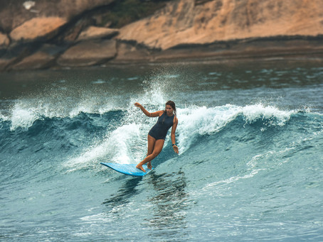 Chloe Calmon, the pro longboarder from Brazil