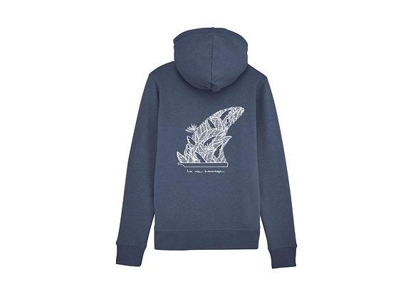 """Zipped hoodie """"La vie sauvage"""""""