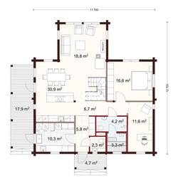 171 m2 plan