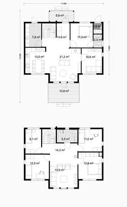 180 m2 plan