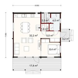 60m2 plan