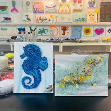 Seahorse and Abstract