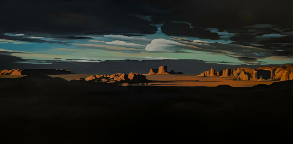Mystery Valley  24_x48_  acrylic on canv