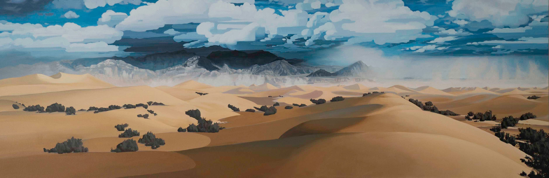 """Stovepipe Wells Dunes, Death Valley 4  24""""x72""""   acrylic on canvas  2016"""