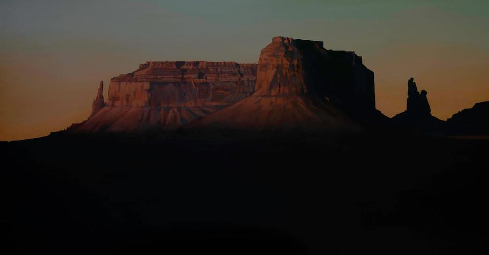 Eagle Mesa, Gloaming  18_x36_  acrylic o