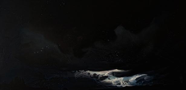 "Galisteo  36""x72""  arylic on canvas  2017"