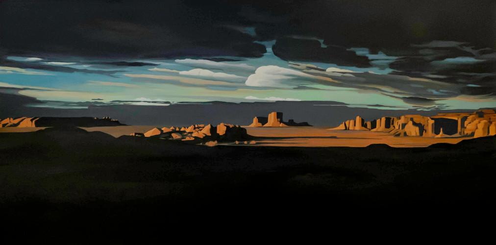 Mystery Valley 24_x48_ acrylic on canvas