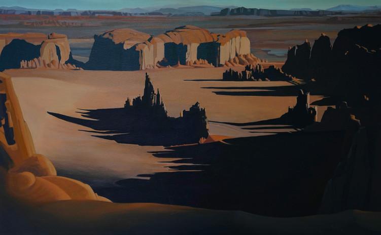 Hunts Mesa 2  21_x34_  acrylic on canvas